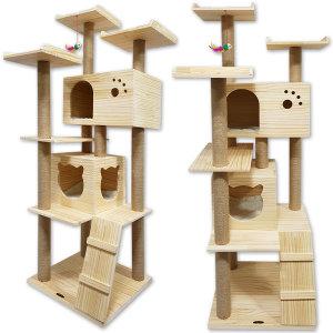 포레스트 고양이 원목 대형 캣타워 하우스 스크래쳐