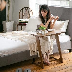 원목 거실 소파테이블 사이드 보조 테이블 침대 책상