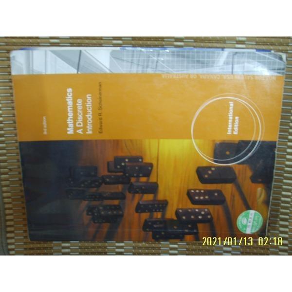 헌책/ 외국판 BROOKS COLE / 3판 Mathematics A Discrete Introduction / Scheinerman -꼭상세란참조
