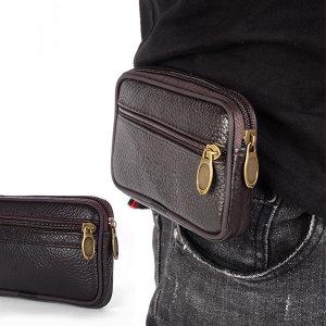 미니 가방 휴대폰가방 허리쌕 소가죽 포켓 (1포켓)