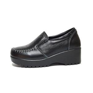 여성 소가죽 통굽 단화 구두 키높이 신발 SZ-JM025
