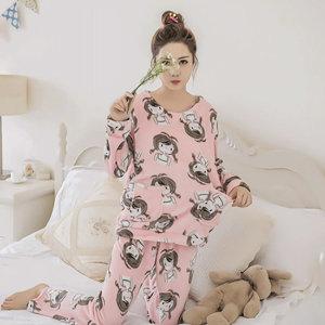 극세사 수면잠옷 상하 세트 파자마 홈웨어 (양갈래)