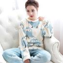 극세사 수면잠옷 상하 세트 파자마 홈웨어 (부엉이)
