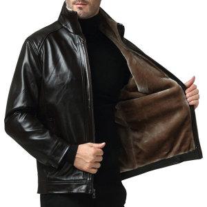 헨리 융털 가죽자켓 안감퍼 남자무스탕 남성 레더점퍼