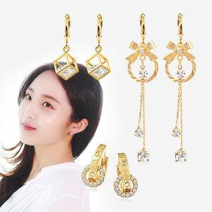 14K GOLD_pin 귀걸이/진주 링 원터치 귀걸이