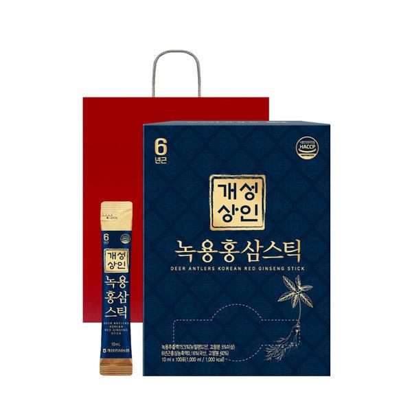 개성상인 녹용홍삼스틱 10ml 100포 /실속형/대용량