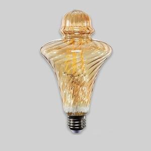 LED 4W 에디슨 에코 플랫A 램프 E26 전구색 전구