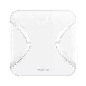 Yolanda CS20F 스마트 체지방 디지털 체중계 하얀WiFi