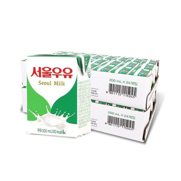 멸균우유 200ml 24입+24입 (2박스)