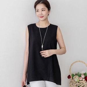 싹쓰리마켓 엄마옷 민소매 인견 여성 해피나시-블랙