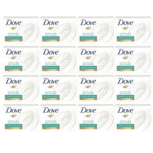16개 Dove 미국 직구 센서티브바 센스티브 뷰티바 스킨 올인원 비누 솝 샴푸 바디워시 106 g 빠른직구