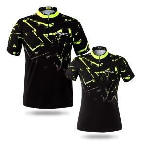 플로우라이트 형광그린 볼링티 클럽티 커스텀 티셔츠