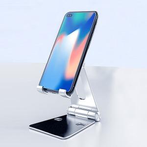 핸드폰 거치대 (B_실버) + 논슬립 패드(소) 책상 탁상