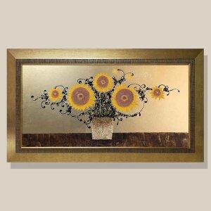황금 해바라기 그림액자 유화그림 풍수그림 20호