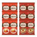 즉석국수 비빔국수 6봉+김치국수 6봉+2봉증정