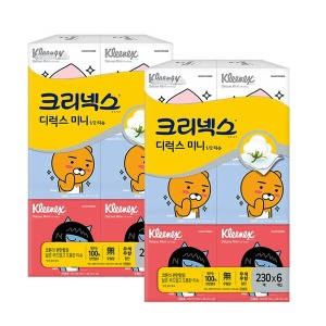 카카오 디럭스미니티슈 230매12개/각티슈/휴지