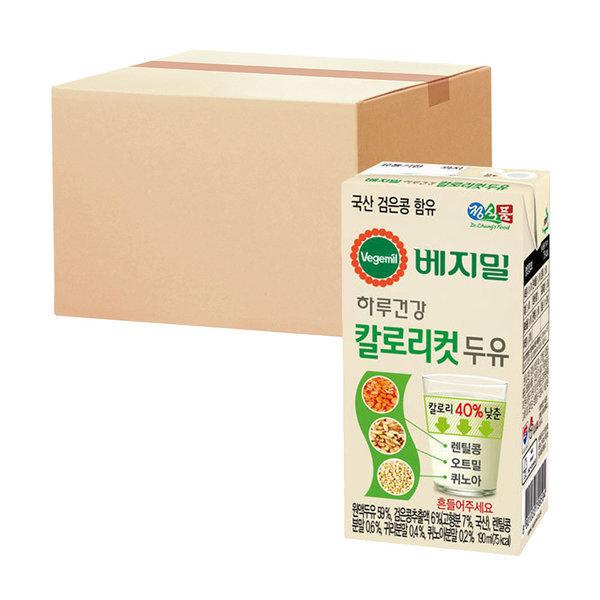 베지밀 하루건강 칼로리컷 두유 190ml 64팩