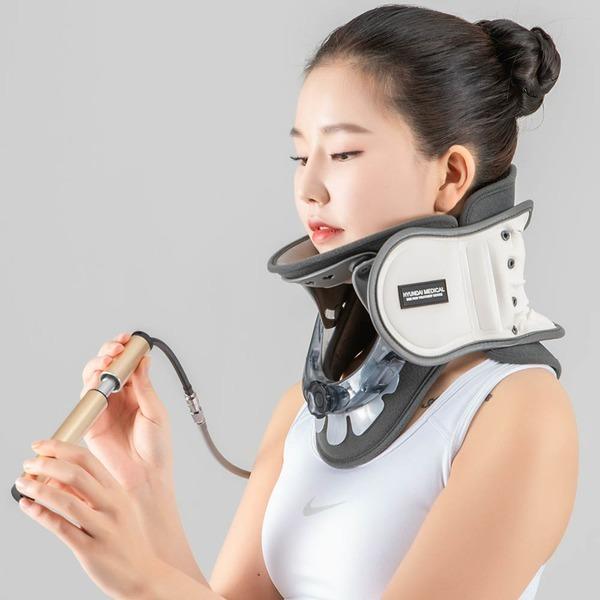 넥유캔 목 디스크 견인기 거북목 일자목 교정기