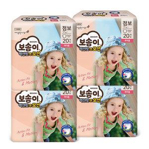 액션핏앤모션 팬티 점보 여아 20매 x 4팩