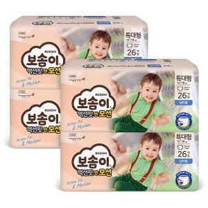 액션핏앤모션 팬티 특대 남아 26매 x 4팩