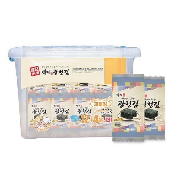 백제광천김 재래도시락김32봉 +리빙박스