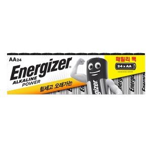 에너자이저 알카라인 패밀리팩 건전지 AA 24입