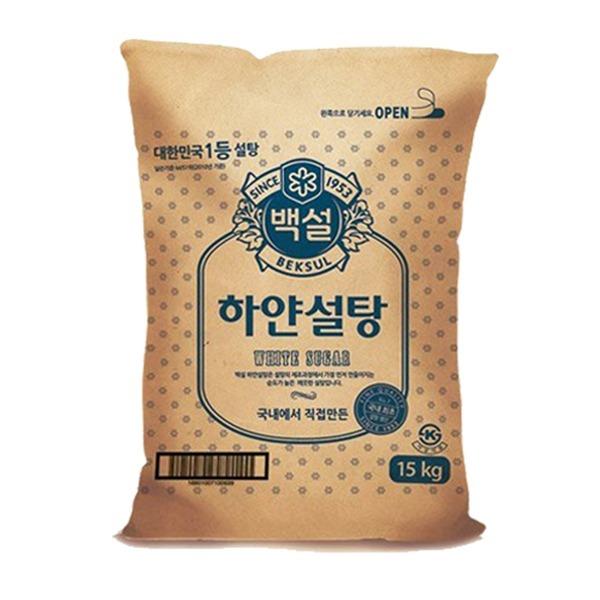 cj 백설 하얀설탕15kg /설탕