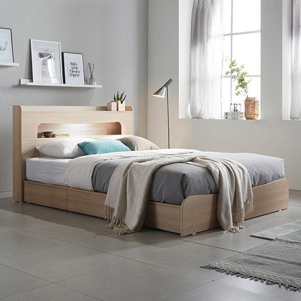 토미 LED 수납 SS 슈퍼싱글 침대+양면매트 DF638353
