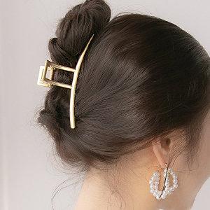 골드 집게핀 여성 헤어집게핀 머리핀 머리집게 집게삔