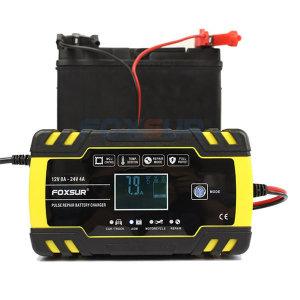 12V 24V 자동차 배터리 충전기 과열 방전 방지 LCD