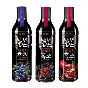 백년동안 흑초 900ml 3병/복분자+석류+블루베리