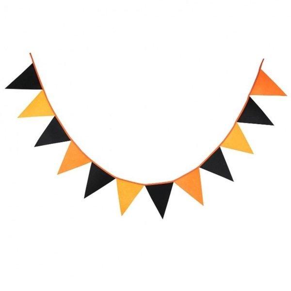 (색상 오렌지블랙) 파티 데코 패브릭 가랜드/가랜더