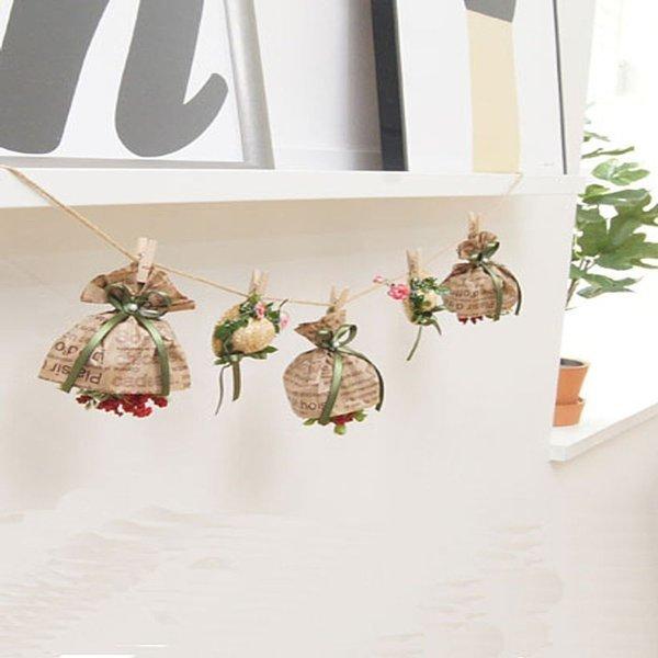 (핑크 화분) 사랑스러운 모티브가 달린 꽃다발