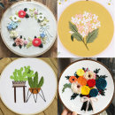 프랑스자수 DIY 패키지 십자수 세트 꽃액자 도안 초보