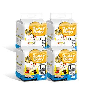 대디베이비 슬림 밴드기저귀 대형 4팩 (1팩20매) 공용