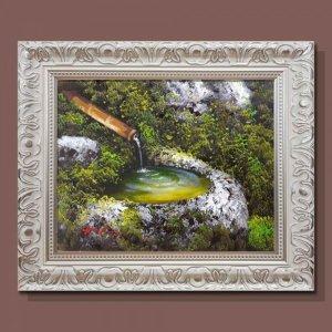 부귀의우물 물그림 그림액자 유화그림 풍수그림 3호