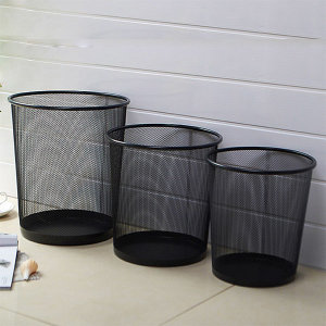 철제 휴지통 업소용(소) 사무실 쓰레기통 원형