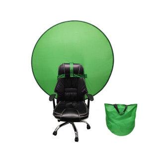 원터치 크로마키 스크린 이동식 배경천 의자 거치용 大
