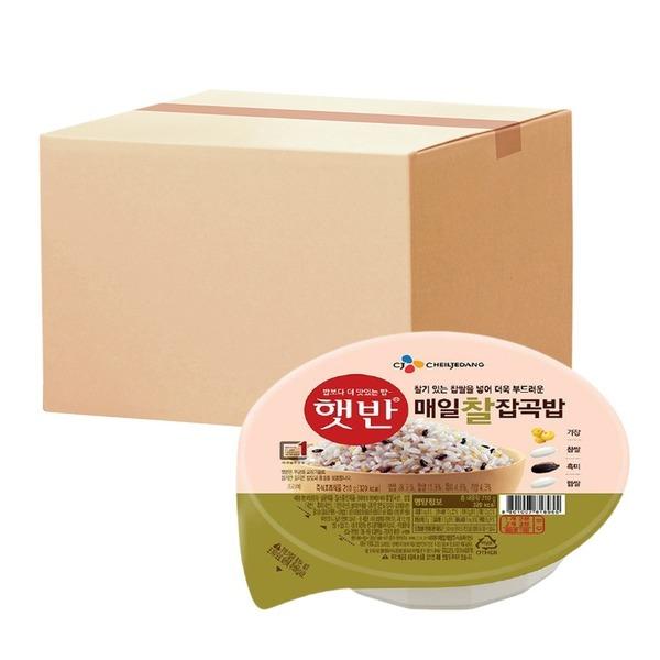 햇반 매일찰잡곡밥 210g 24개