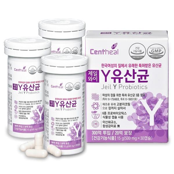 한국 여성 질 유래 특허 유산균 제일 와이 Y유산균 3+1