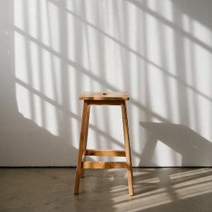 원목 사각 스툴 인테리어 카페 화장대 식탁 의자/소