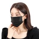 일회용 3중 MB필터 마스크 대형 블랙 마스크 50매