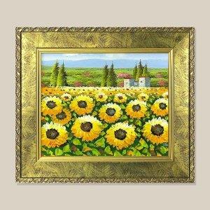 전원풍경 해바라기 그림액자 유화그림 풍수그림 3호