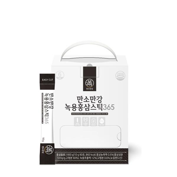 만소만강 녹용홍삼스틱 365 1박스 3개월분