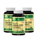 오메가3 1100 비타민D 3병 180캡슐x3(18개월) 고함량