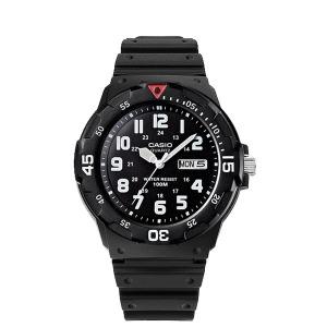 정품 100M방수 야광 우레탄밴드 손목시계 MRW-200H-1B