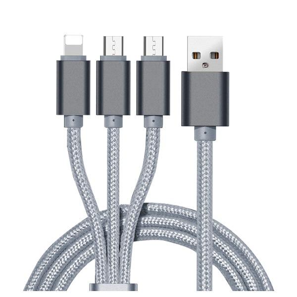 3in1 핸드폰 동시 멀티 충전케이블 C타입+5핀+8핀