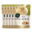 비비고 버섯야채죽 450g 5개/유통기한 2021-07-07