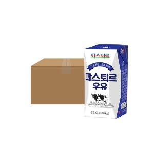 파스퇴르 전용목장 200mL 흰 멸균우유 18입