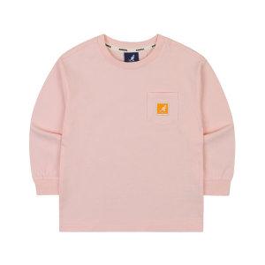 포켓 로고 라벨 티셔츠 NA 0002 핑크/ 캉골키즈